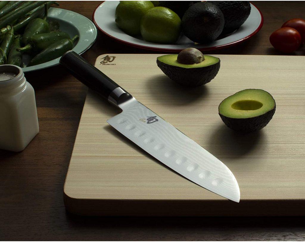"Shun Classic 7"" Hollow-Ground Santoku All-Purpose Kitchen Knife"
